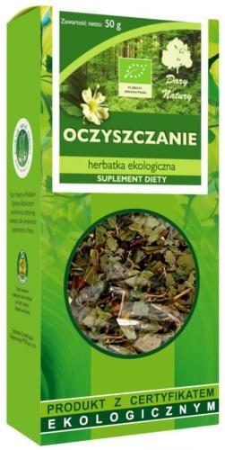 Herbatka OCZYSZCZENIE BIO 50g Dary Natury