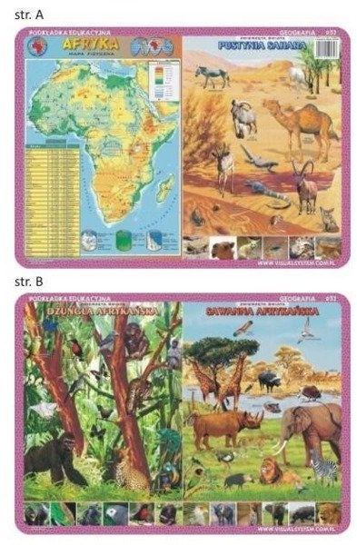 Podkładka edu. 032 - Afryka, zwierzęta Sahary..