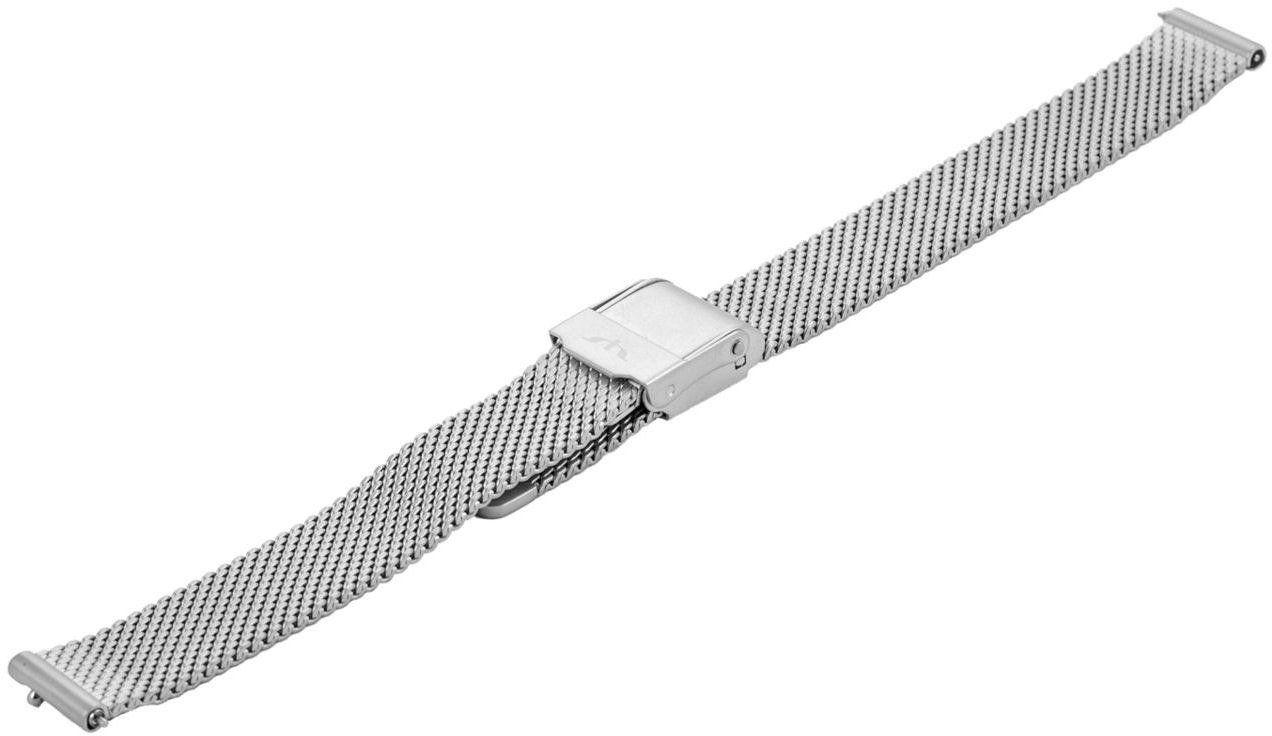 Bransoleta stalowa do zegarka 14 mm Bisset BM-101/14 Silver Mat
