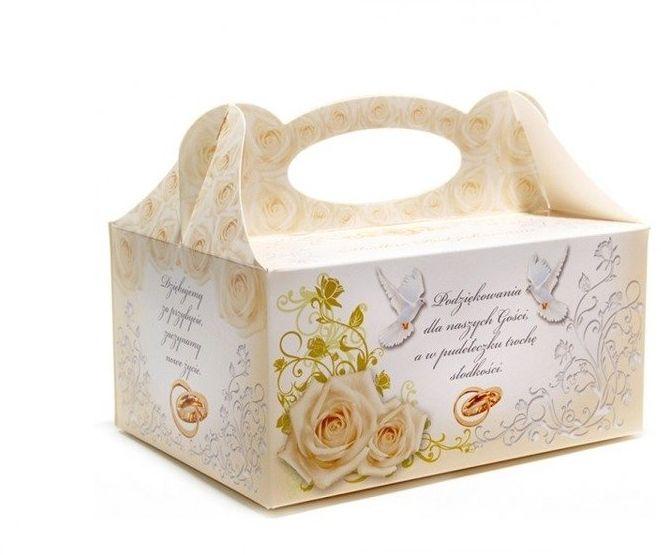Pudełko na ciasto weselne Podziękowanie dla gości 1 sztuka PUDS-1x