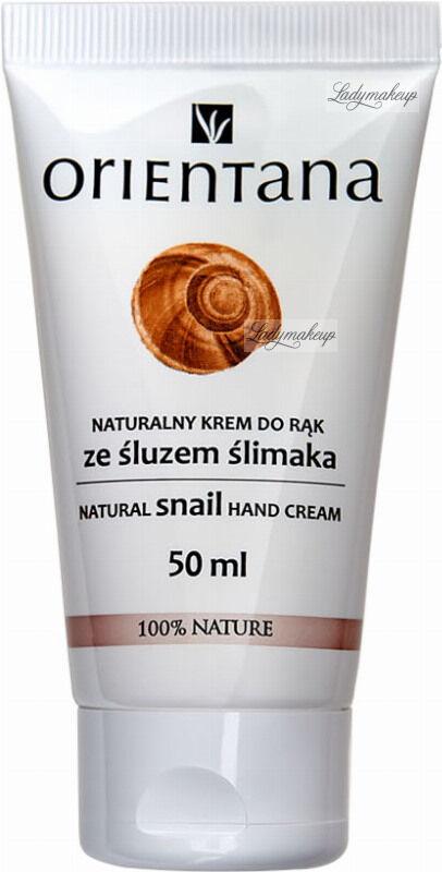 ORIENTANA - NATURAL SNAIL HAND CREAM - Naturalny krem do rąk ze śluzem ślimaka - 50 ml