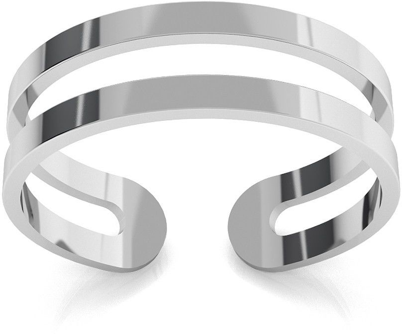 Srebrny pierścionek na kciuk, srebro 925 : Srebro - kolor pokrycia - Pokrycie platyną