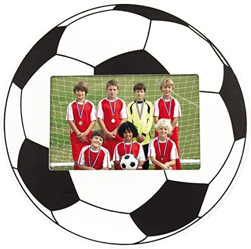 ZEP pw3096 piłka nożna design ramka na zdjęcie 9 x 6 cm drewno biały/czarny