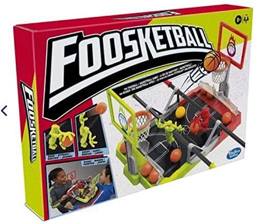 Foosketball Game, The Foosball Plus Strzelanie do koszykówki i wynik strzelanie i wynik nie wyszukiwane gry na blat dla dzieci w wieku 8 lat i góry, dla 2 graczy