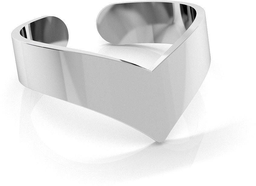 Srebrny pierścionek na początek palca, srebro 925 : Srebro - kolor pokrycia - Pokrycie platyną