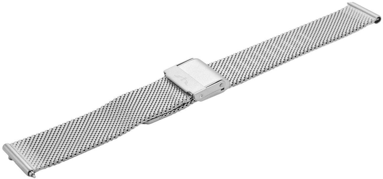 Bransoleta stalowa do zegarka 16 mm Bisset BM-101/16 Silver Mat