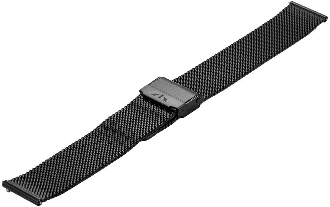Bransoleta stalowa do zegarka 18 mm Bisset BM-101/18 Black