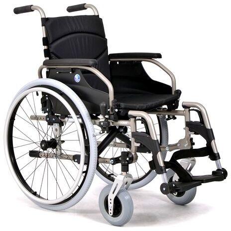 Wózek inwalidzki ze stopów lekkich z taśmami V300 Vermeiren