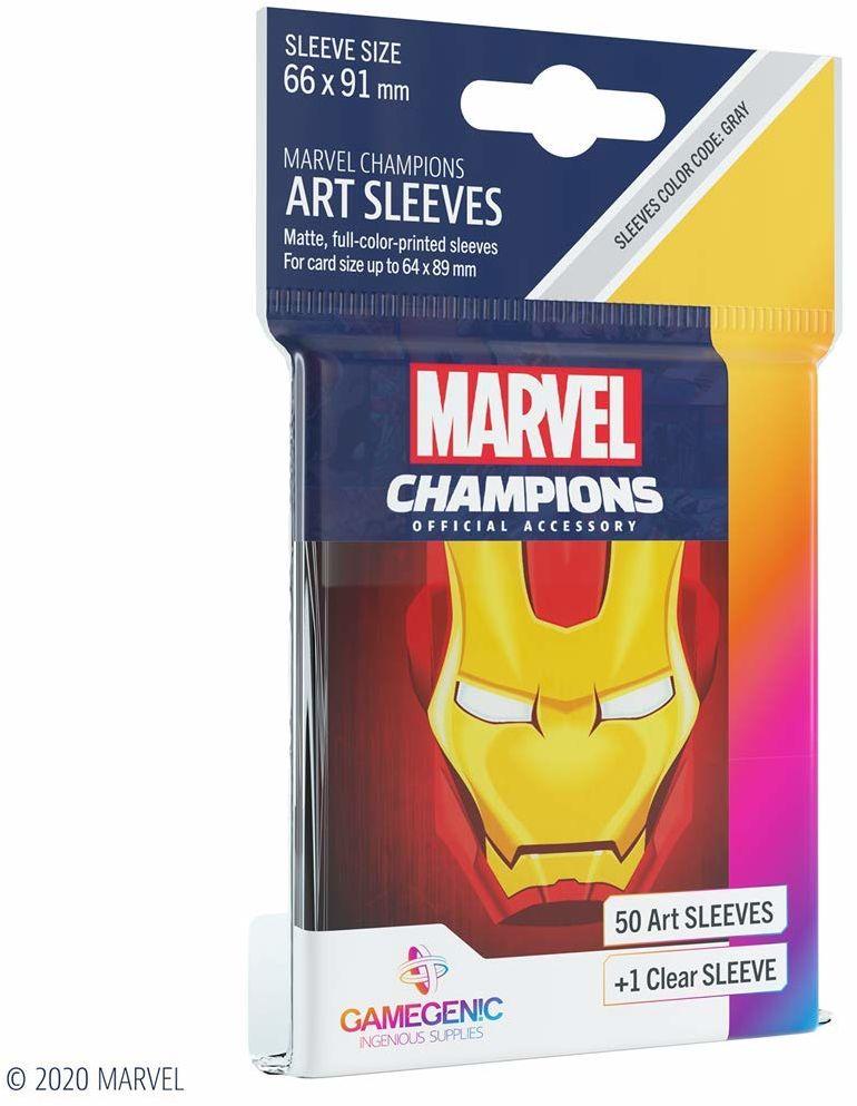 Gamegenic GGS10091 Marvel Champions Art Sleeves-Iron Man