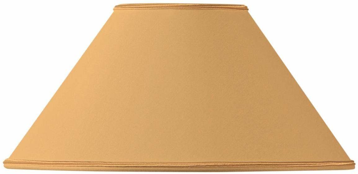 Klosz lampy w kształcie retro, 20 x 08 x 12 cm, żółty