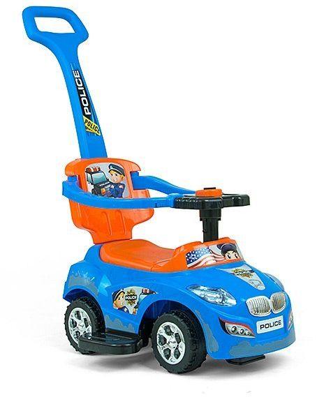 Milly Mally Jeździk 3w1 Pojazd Happy Blue-Orange