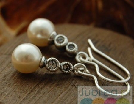 Chopin srebrne kolczyki z perła