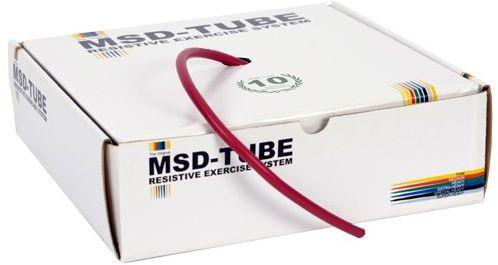 Linka tubingowa do ćwiczeń oporowych i rehabilitacji - 2,5m opór średni (tubing czerwony)