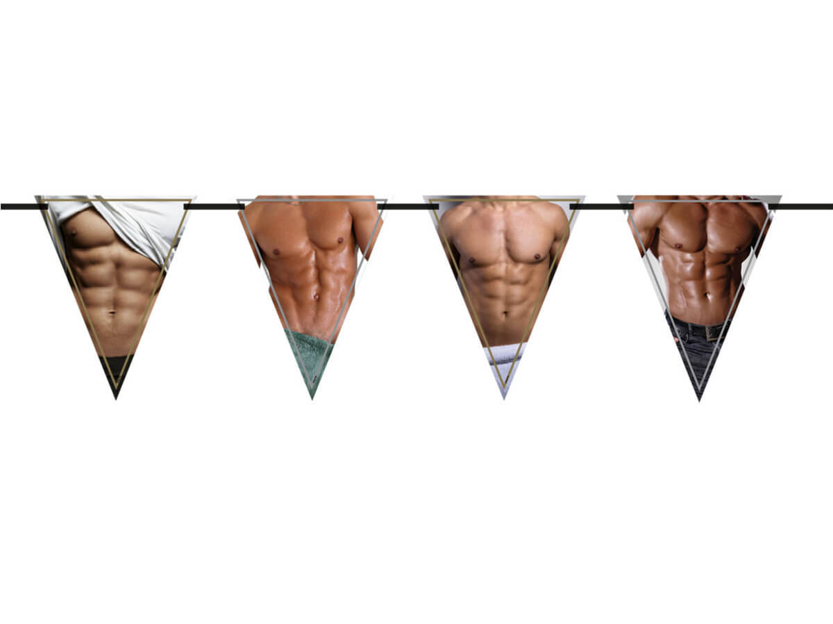 Baner flagi Sexy Men - 6 m - 1 szt.