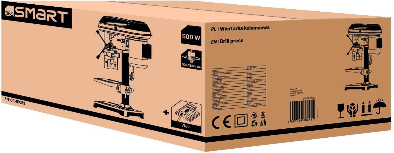 wiertarka kolumnowa z 9 prędkościami, 550W, zakres pracy do 16mm, 365Smart [SM-04-01082]