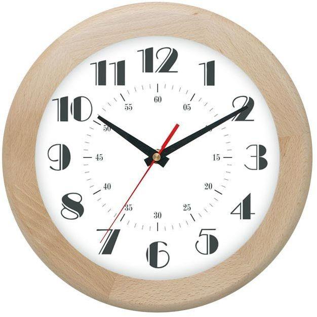 Drewniany zegar ścienny Atrix ATW301E Jesion 30 cm