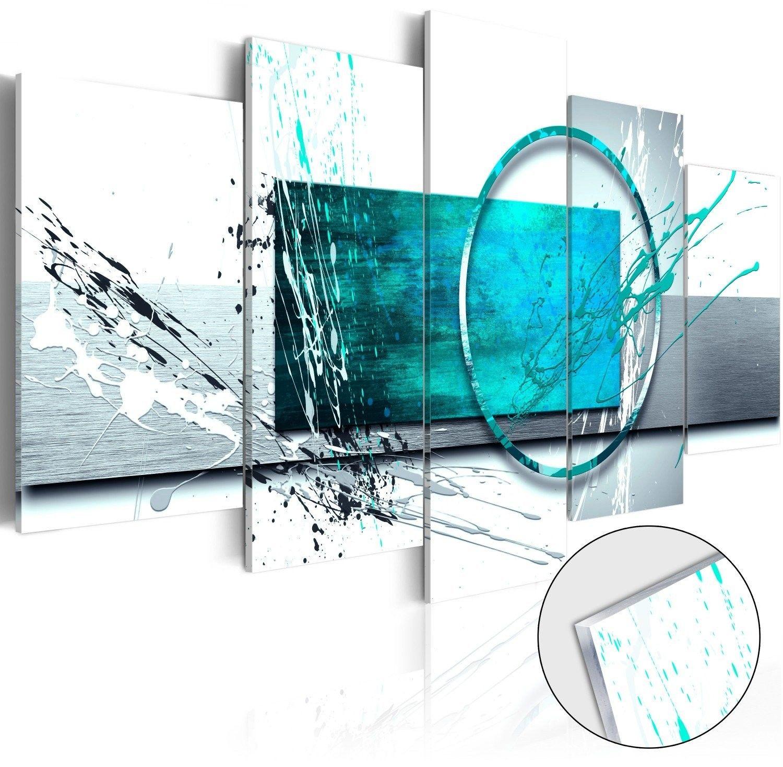 Obraz na szkle akrylowym - turkusowa ekspresja [glass]