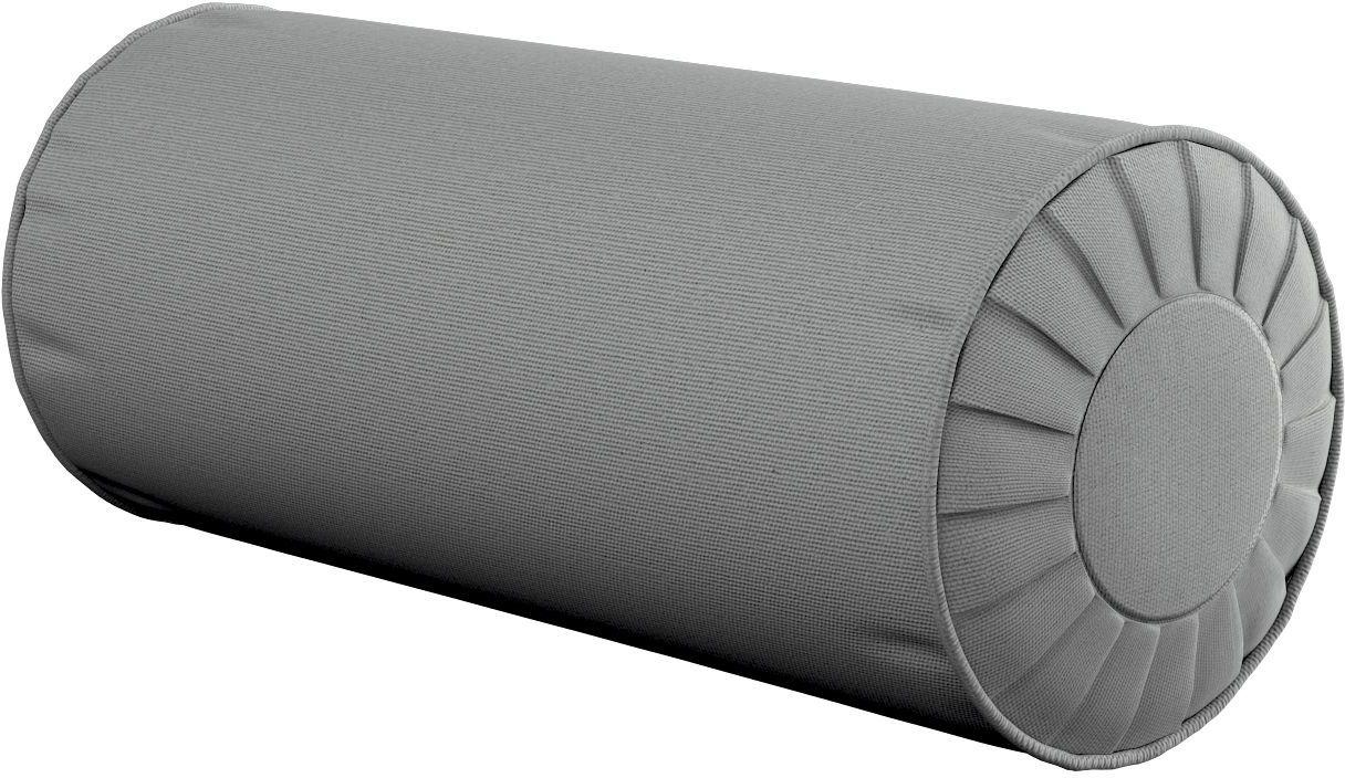 Poduszka wałek z zakładkami, szary, Ø20  50 cm, Loneta