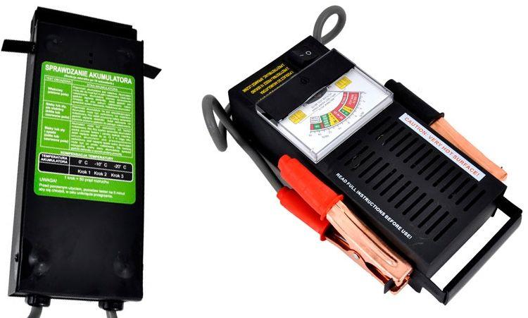Tester miernik akumulatorów analogowy 6/12V