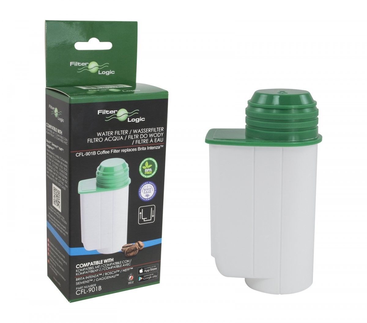 Filtr wody Brita Intenza TZ70003 ekspresu do kawy i ekspresu przelewowego 3szt FilterLogic