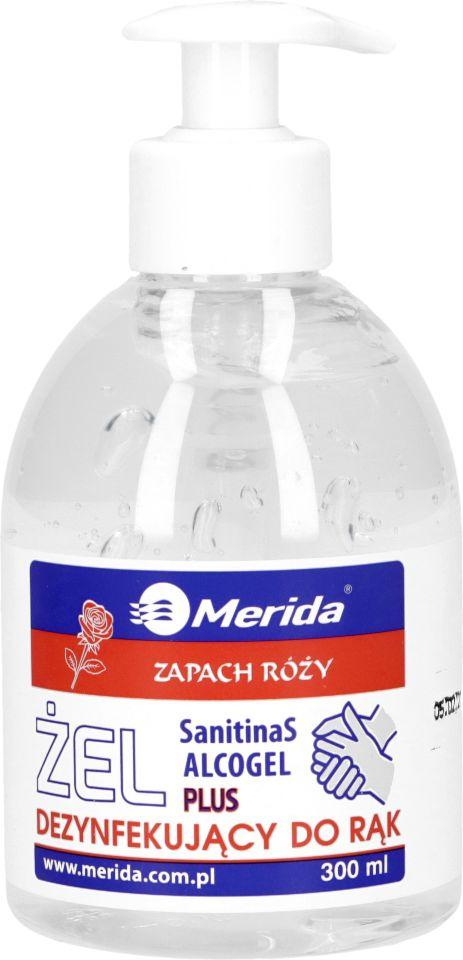 Żel dezynfekujący do rąk – o zapachu róży (Merida)