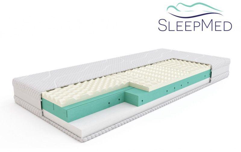 SLEEPMED COMFORT - materac termoelastyczny, piankowy, Rozmiar - 100x200 WYPRZEDAŻ, WYSYŁKA GRATIS, 603-671-572