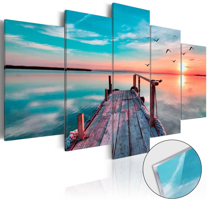 Obraz na szkle akrylowym - zapomniana przystań [glass]