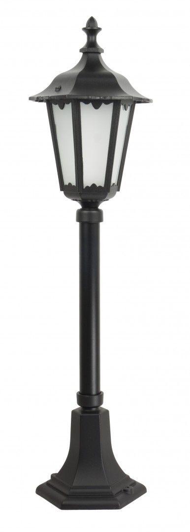 SU-MA Retro Midi K 5002/3/M lampa stojąca czarna E27 IP43 76cm