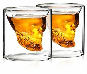 4Home Kieliszki do wódki Skull Hot&Cool 80 ml, 2 szt.