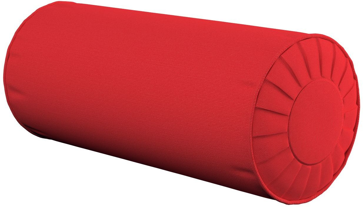 Poduszka wałek z zakładkami, czerwony, Ø20  50 cm, Loneta