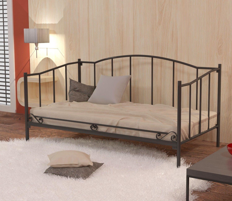 Łóżko metalowe sofa 120x200 wzór 18 ze stelażem