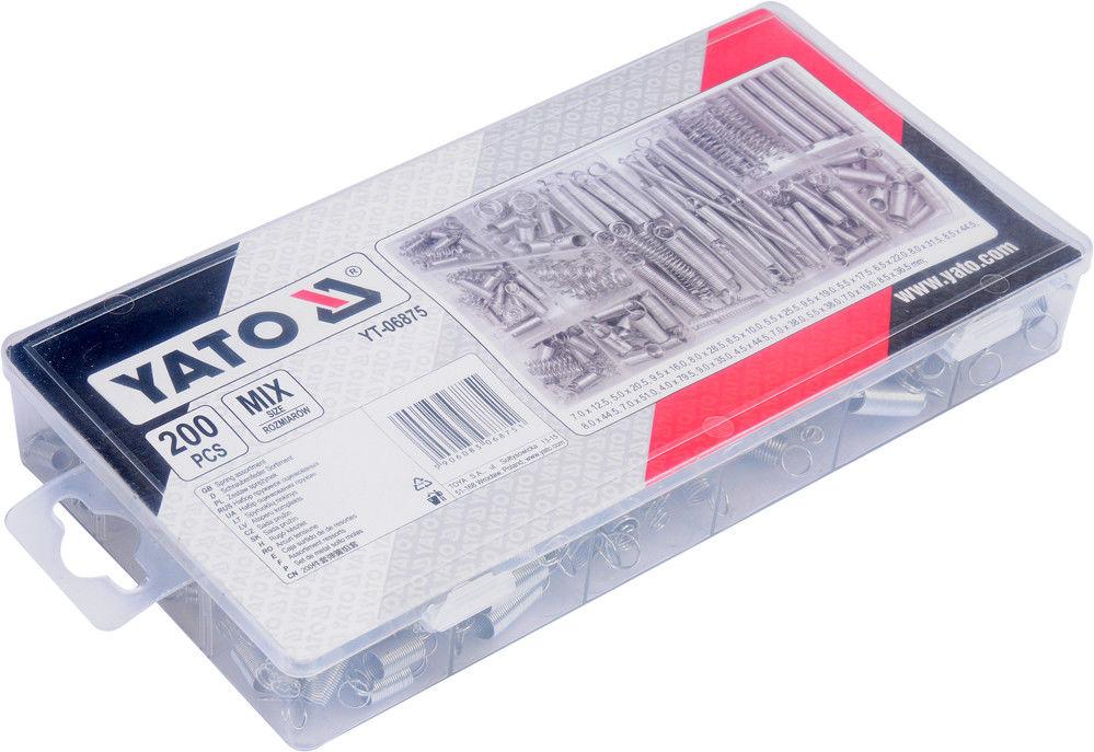 Zestaw sprężynek Yato mix rodzajów 200 szt.