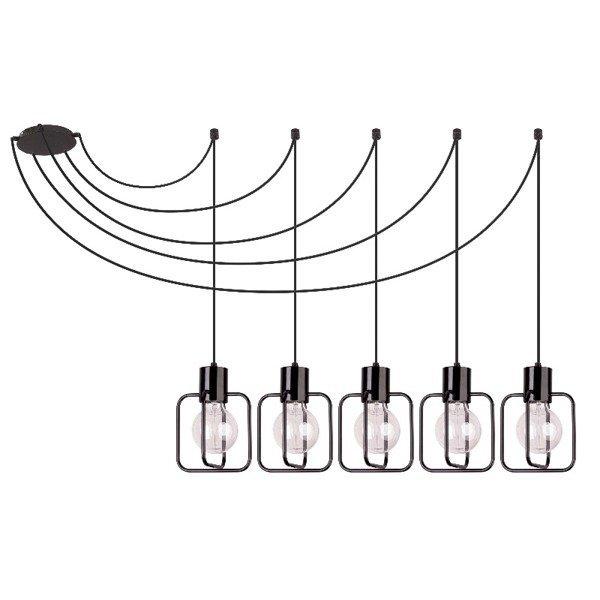 Lampa wisząca podwieszana AURA kwadrat V czarna SIGMA 31108