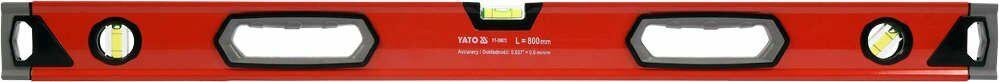 Poziomnica aluminiowa 800 mm, 3 libelle, dwa uchwyty dokładność 0,5 mm/m Yato YT-30072 - ZYSKAJ RABAT 30 ZŁ