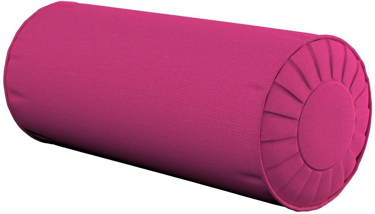 Poduszka wałek z zakładkami, różowy, Ø20  50 cm, Loneta