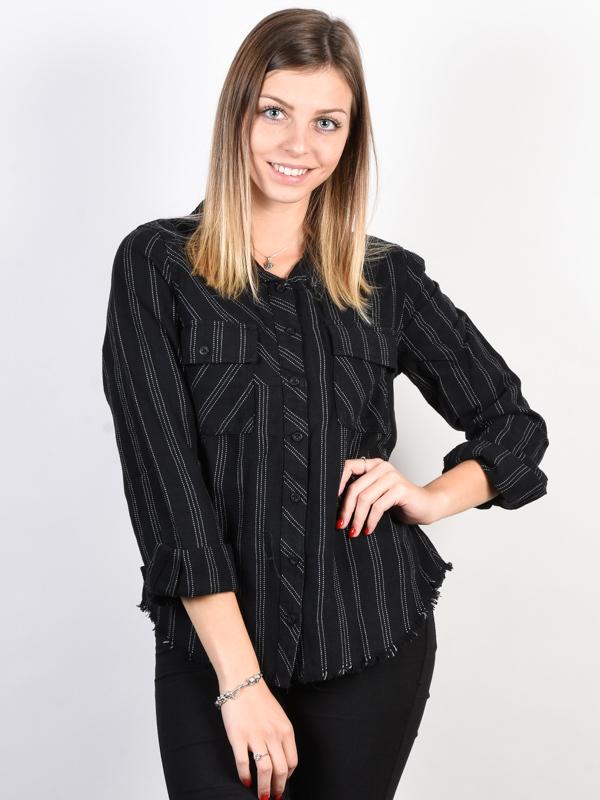RVCA ANSWERED black damskie koszulka z długim rękawem
