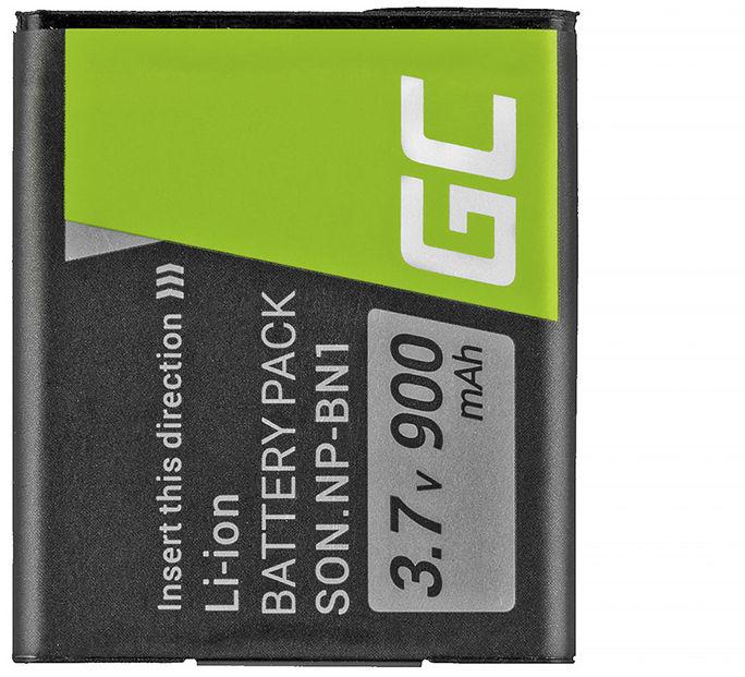 Akumulator Bateria Green Cell  NP-BN1 do Sony Cyber-Shot DSC WX220 W350 W380 W810 W830 HDR-AS30V TF1 W360 W620 W800 3.7V 630mAh