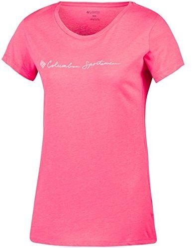 Columbia damska koszulka z logo CSC Script Short Sleeve T-Shirt, Red Camelia, XS