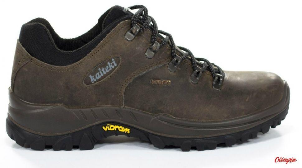 Buty trekkingowe Kaiteki 10309 skórzane brązowe