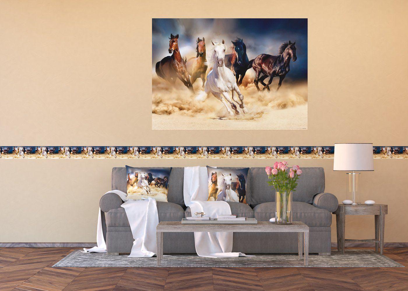 AG Design samoprzylepna bordiura, folia, wielokolorowa, 500 x 14 cm