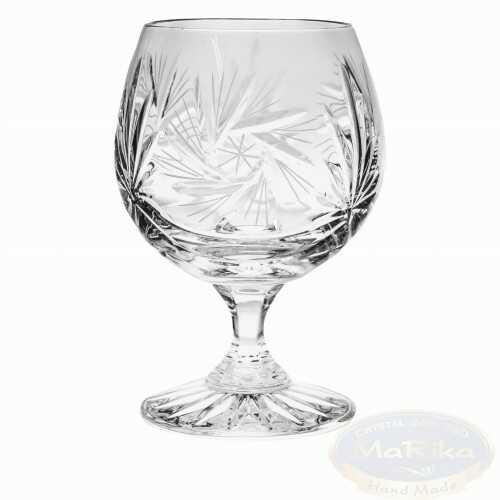 Kryształowe kieliszki do koniaku 250ml Młynek 6 sztuk