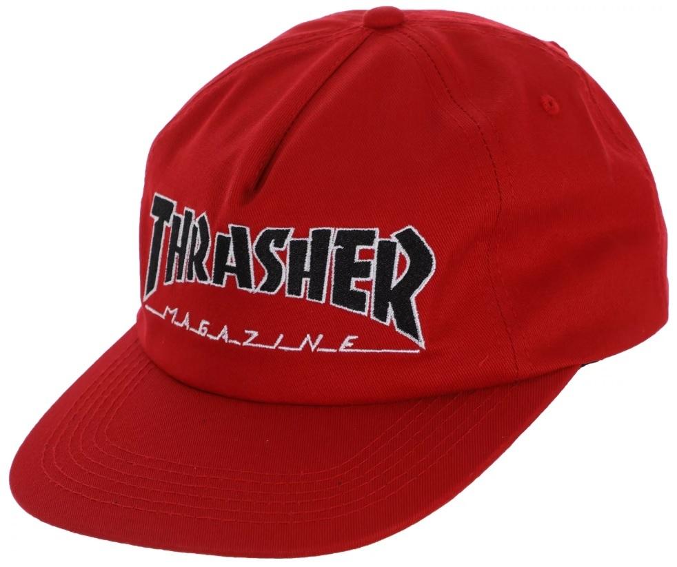 czapka męska THRASHER OUTLINED SNAPBACK Red