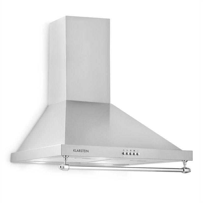 Klarstein Montblanc okap kuchenny 610m/h 165W 2x1 reling LED 5W srebrno-szary
