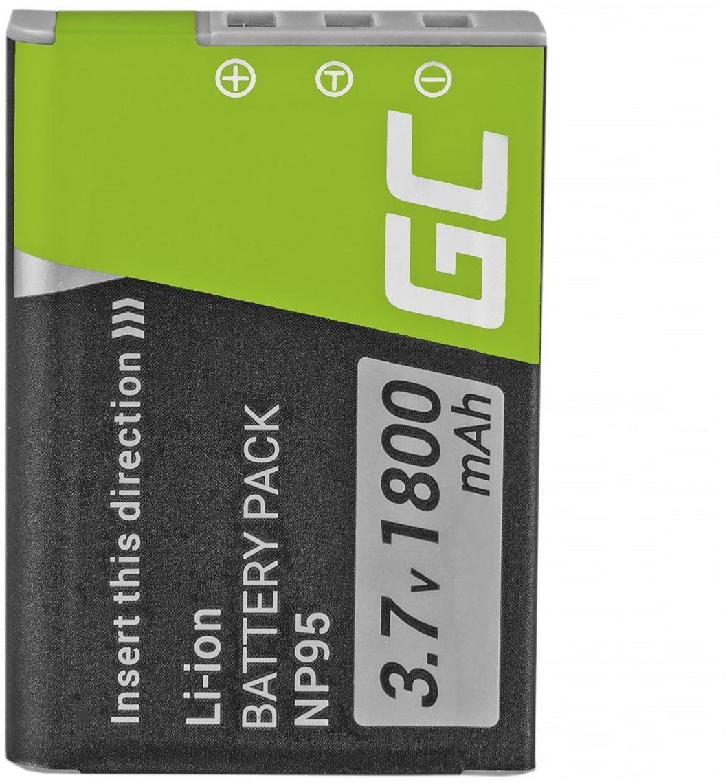 Akumulator Bateria Green Cell  NP-95 do Fujifilm Finepix X-S1 X30 X70 X100 X100S X100T F30 F31 F31FD REAL 3D W1 3.7V 1500mAh