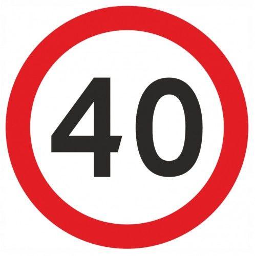 Zaproszenia na 40 urodziny Znak