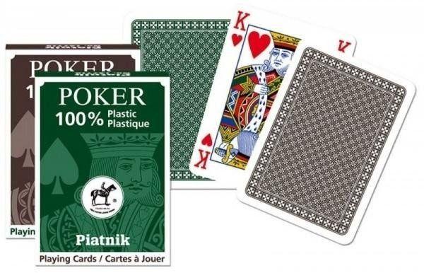 """Karty pojedyńcze talie """"plastik Poker"""" PIATNIK"""
