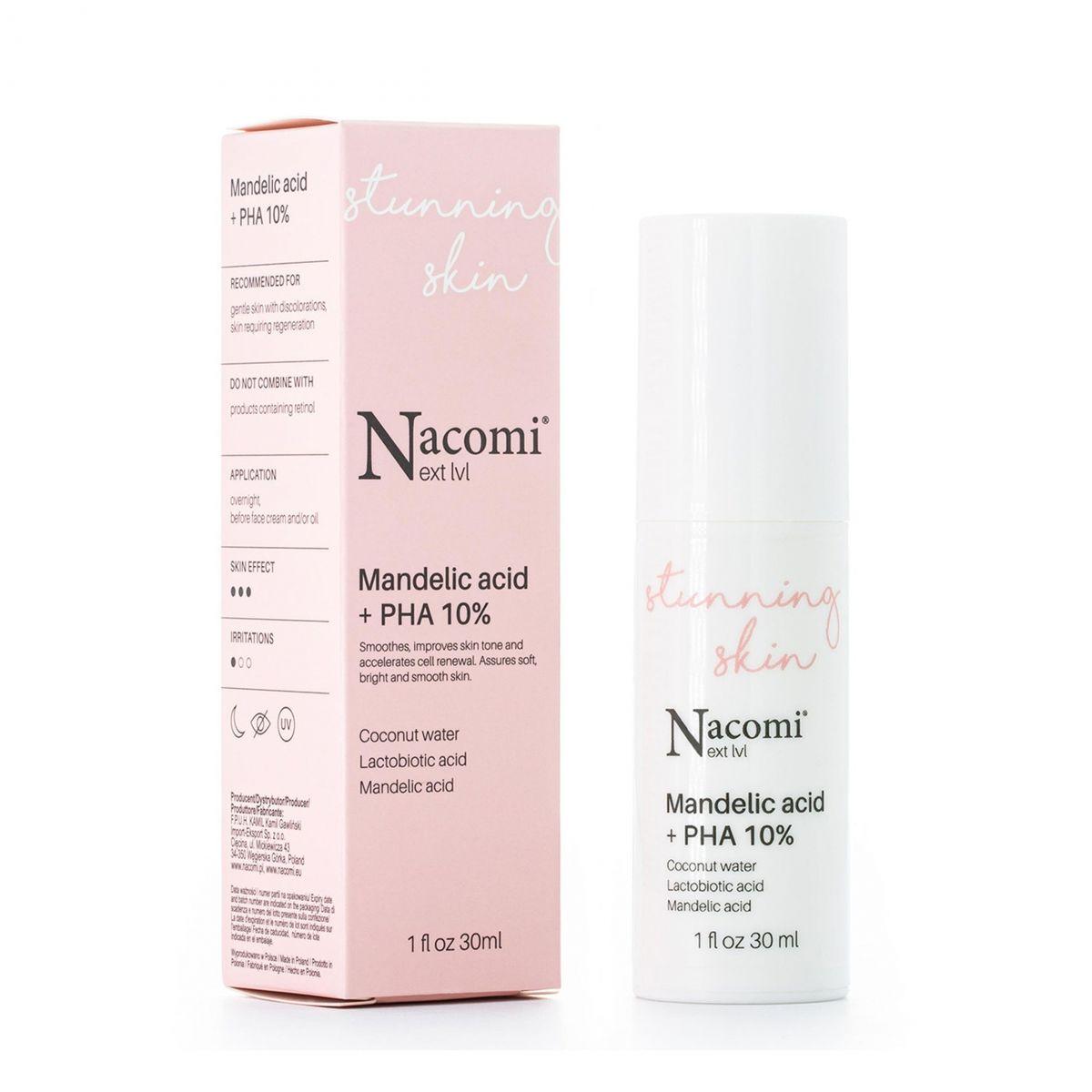 Serum z kwasem migdałowym + PHA - 30ml - Nacomi