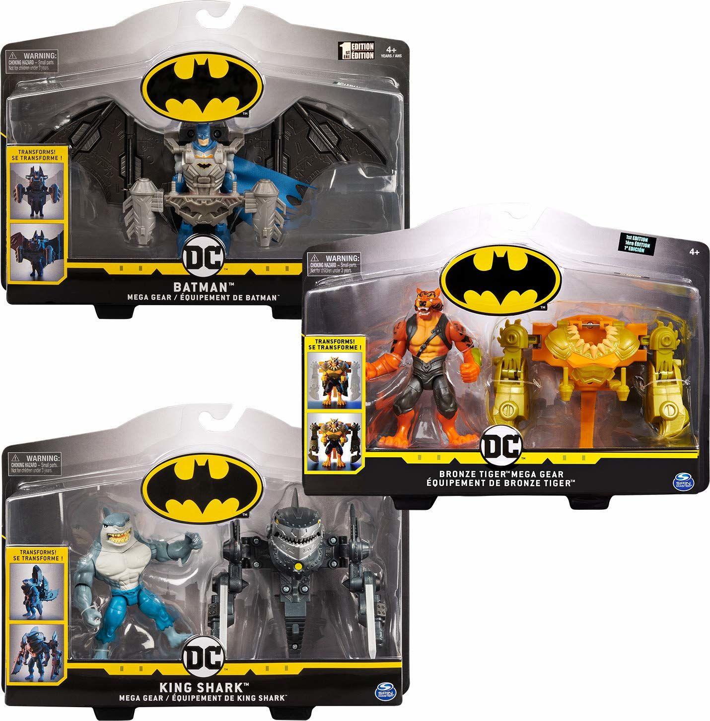 BATMAN 6055947 - Batman figurka akcji 10 cm z przekształcalnym zbrojeniem Mega-Gear - sortowanie z różnymi wariantami