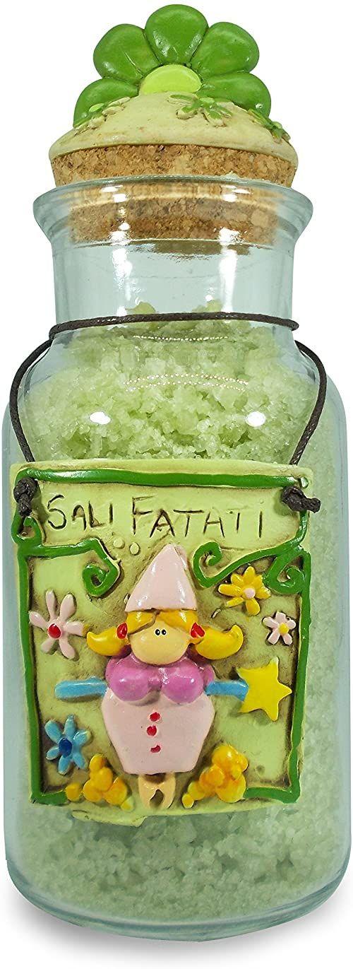 Paolo przezroczysta sól oczarowana waza wróżka, zielona, 8 x 8 x 20 cm