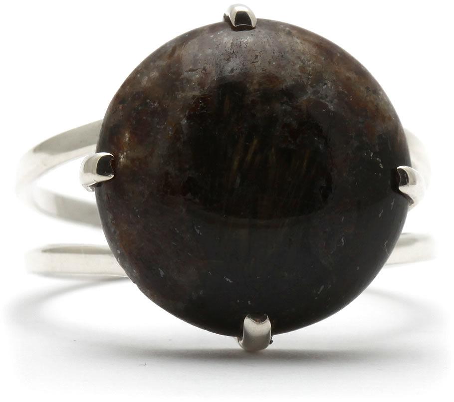 Kuźnia Srebra - Pierścionek srebrny, rozm. 17, Eudialit, 3g, model